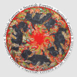 Medallón céltico de Terrier del escocés Pegatina Redonda