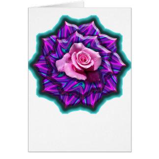 Medallón color de rosa tarjeta de felicitación