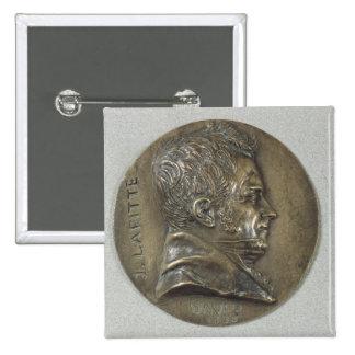 Medallón con un retrato de Jacques Lafitte Pin Cuadrado