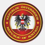 Medallón de Austria Pegatina Redonda
