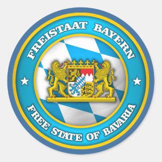 Medallón de Baviera Pegatina Redonda