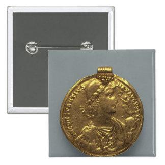 Medallón de Constantius II, acuñado en Antioch Pin Cuadrado
