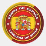Medallón de España Pegatina Redonda