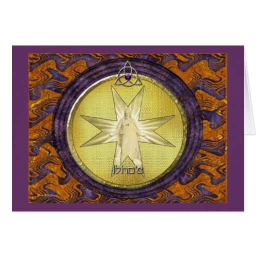 Medallón de I'shoa (Jesús) Tarjeta De Felicitación