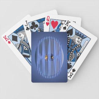 Medallón de la onda barajas de cartas