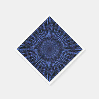 Medallón de los azules añiles servilletas de papel