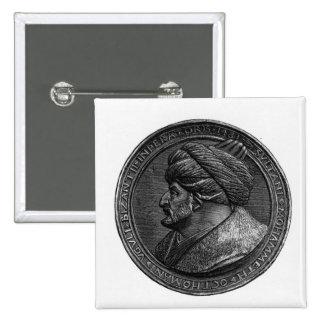 Medallón de Mehmed II Pin Cuadrado