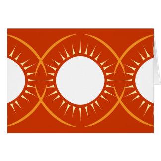 Medallón de Sun Tarjeta De Felicitación