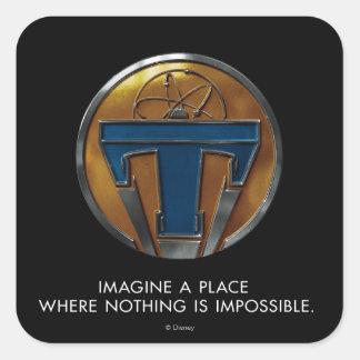 Medallón de Tomorrowland Pegatina Cuadrada