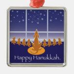 Medallón de WagsToWishes_Menorah Dogs_Hanukkah Ornamento De Navidad