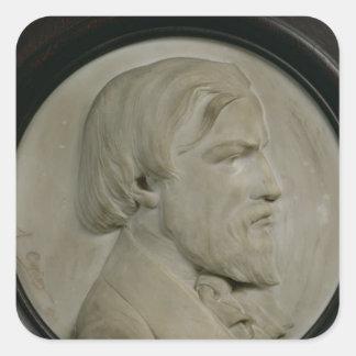 Medallón del alivio de Federico Ozanam Pegatina Cuadrada
