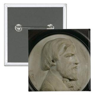 Medallón del alivio de Federico Ozanam Pin Cuadrado