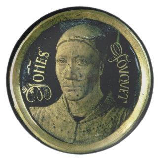 Medallón del autorretrato, c.1450 (esmalte en el c platos