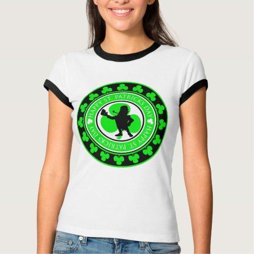 Medallón del día del KRW St Patrick feliz T Shirts