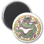 Medallón del dragón iman para frigorífico