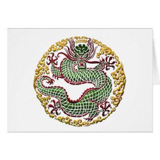 Medallón del dragón felicitaciones