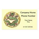 Medallón del dragón tarjetas personales