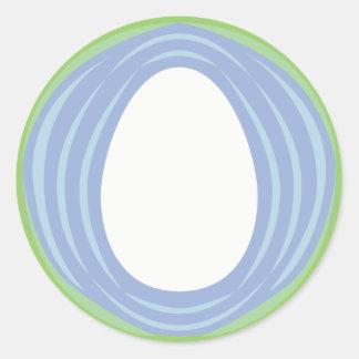 Medallón del huevo del mundo pegatina redonda