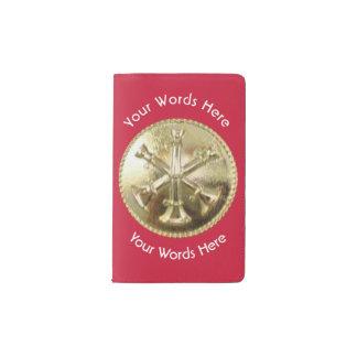 Medallón del oro del batallón del bombero libreta de bolsillo moleskine