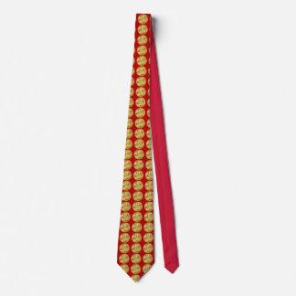 Medallón del oro del bugle del jefe 5 del bombero corbata personalizada