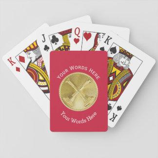 Medallón del oro del jefe de división del bombero cartas de juego
