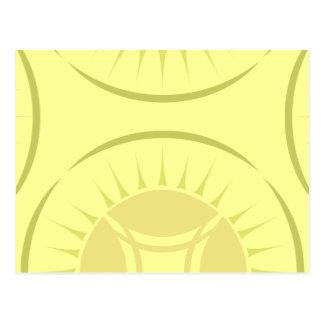 Medallón del rayo del ojo postal