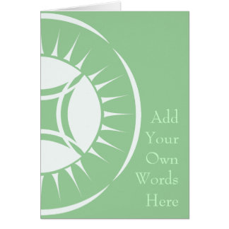 Medallón del rayo del ojo tarjeta de felicitación