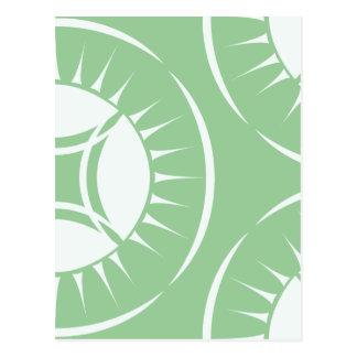 Medallón del rayo del ojo tarjetas postales