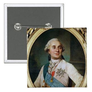 Medallón del retrato de Louis XVI 1775 Pin Cuadrado