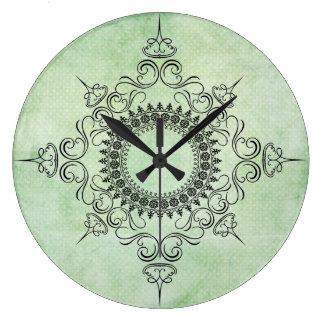 Medallón del vintage de Verdi Reloj De Pared