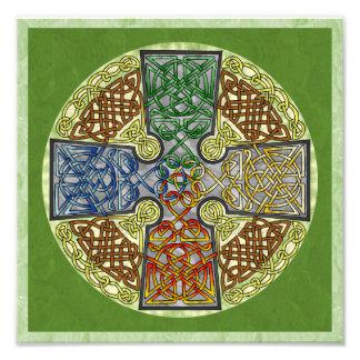 Medallón Elemental-Texturizado de la cruz céltica Fotografía