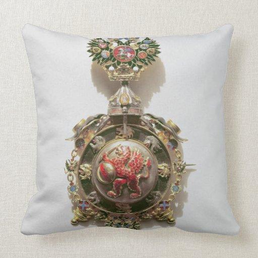 Medallón esmaltado que representa el escudo de arm cojines