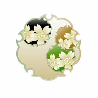 Medallón floral de oro