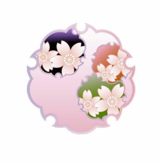 Medallón floral rosado