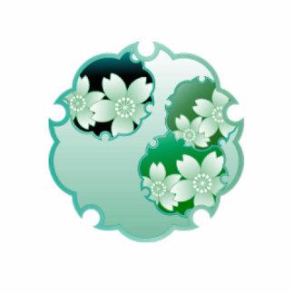 Medallón floral verde