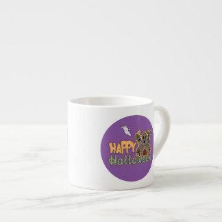 Medallón frecuentado del feliz Halloween del Taza Espresso