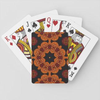 Medallón medio-oriental adornado 3 baraja de póquer