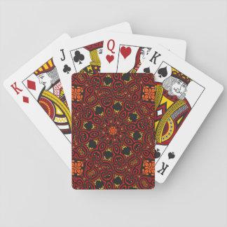 Medallón medio-oriental adornado 5 cartas de juego