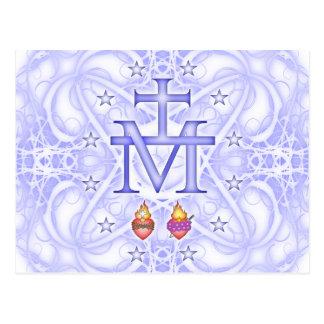 Medallón milagroso tarjeta postal