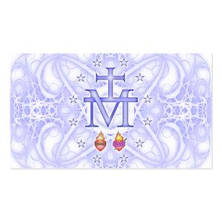 Medallón milagroso tarjetas de visita