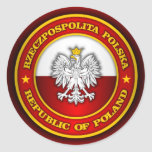 Medallón polaco etiquetas