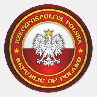 Medallón polaco pegatina redonda