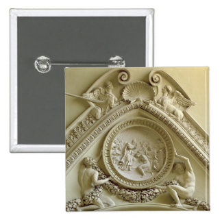 Medallón que representa el bautismo de Constantina Pin Cuadrado