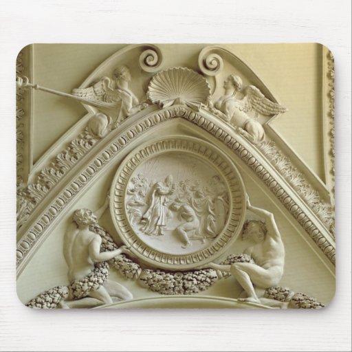 Medallón que representa el bautismo de Constantina Alfombrillas De Ratones