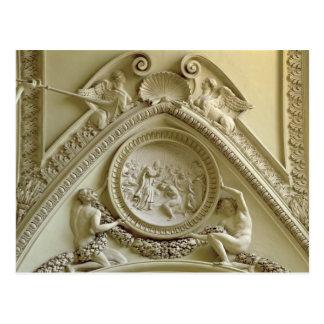 Medallón que representa el bautismo de Constantina Tarjeta Postal