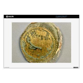 Medallón que representa Jonah y la ballena, romana Calcomanías Para 38,1cm Portátiles