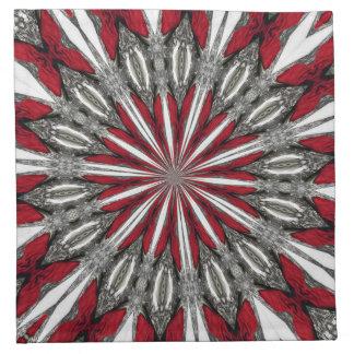 Medallón rojo de la flecha servilletas
