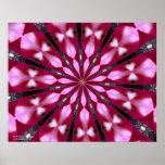 Medallón rosado de Redbud Impresiones