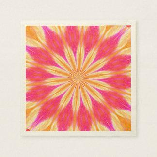 Medallón rosado del lirio de limón servilleta de papel