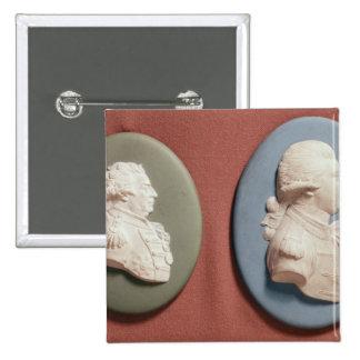 medallones de George IV Pin Cuadrado